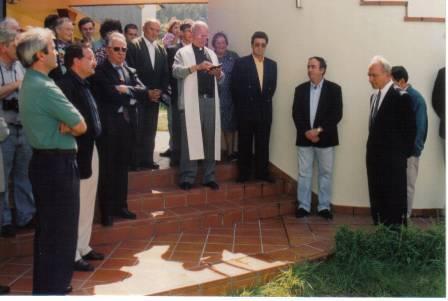 Bendición del Local Social, piscinas y vestuarios por D.Luis, parroco de Anleo