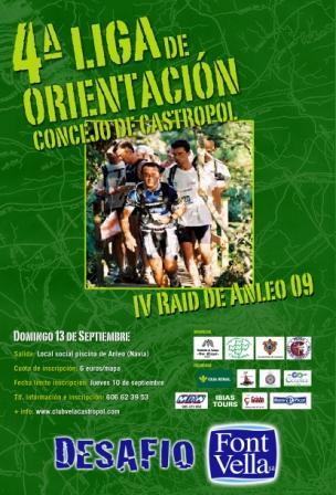 cartel de ORIENTACIÓN EN ANELO 2009 - Se abre en ventana nueva