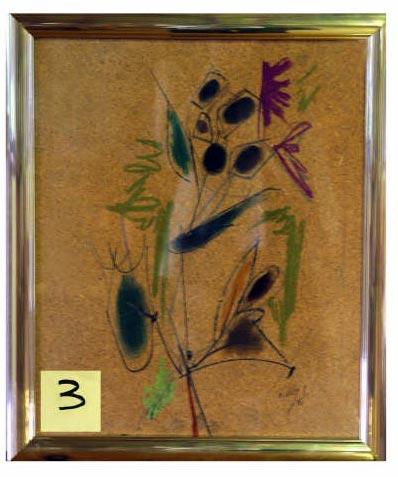 Cuadro Flores I del pintor Álvaro Delgado - Se abre en ventana nueva