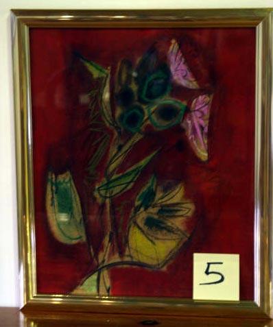 Cuadro Flores II del pintor Álvaro Delgado - Se abre en ventana nueva