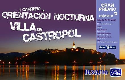 I Carrera de Orientación Nocturna Villa de Castropol - Se abre en ventana nueva