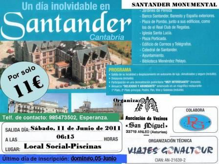 cartel viaje a santander - Se abre en ventana nueva