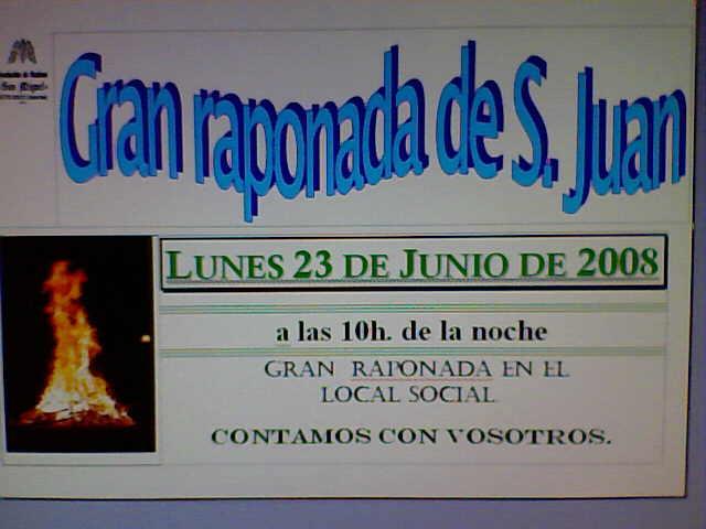 Cartel para anunciar la Raponada de San Juan en Anleo-08 - Se abre en ventana nueva